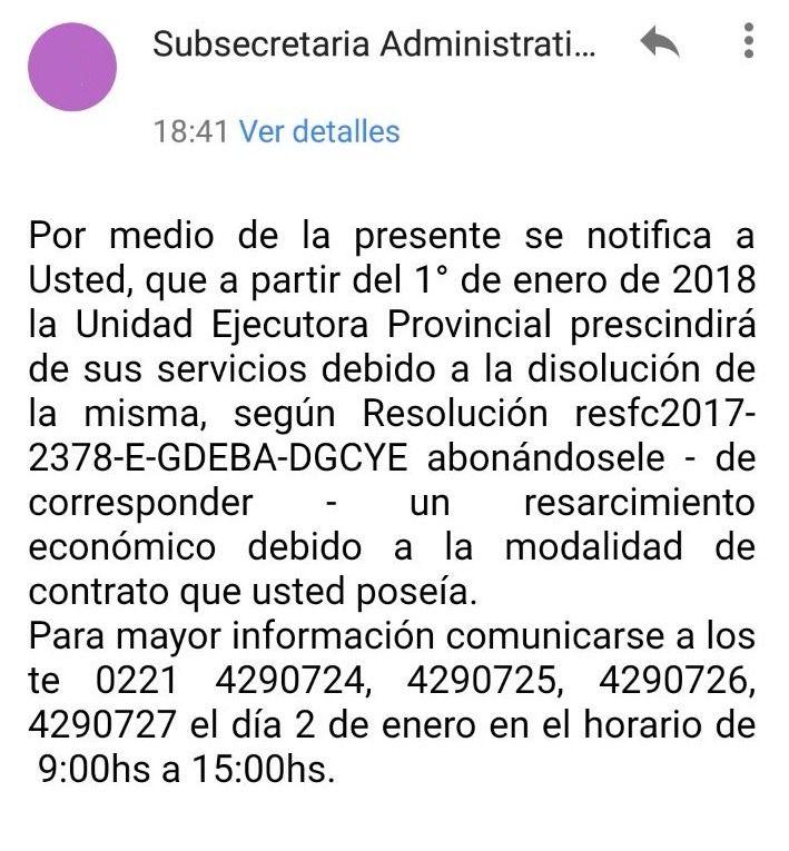 Movilización de trabajadores de la UEP para reclamar contra despidos